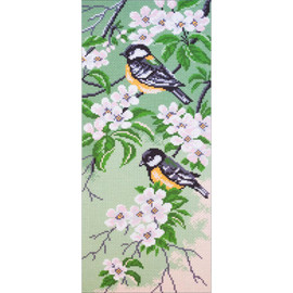 Titmouse Birds Collection D'Art Stamped Cross Stitch Kit