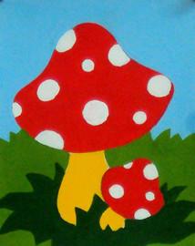 Red Mushroom Tapestry Kit By Gobelin L
