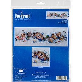 Sleepy Bears Cross Stitch Kit by Janlynn