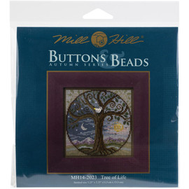 Tree of life cross stitch and beading kit by Mill Hill