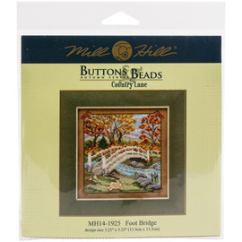 Foot bridge cross stitch and beading kit by Mill Hill