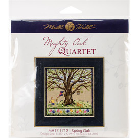 Spring oak cross stitch and beading kit by Mill Hill