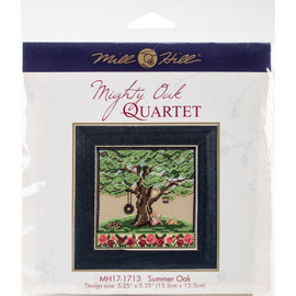 Summer oak cross stitch and beading kit by Mill Hill