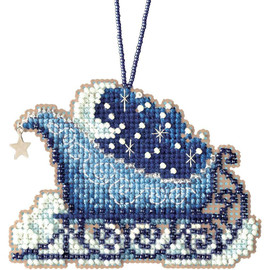 Celestial Sleigh Cross Stitch and Beading Kit by Mill Hill