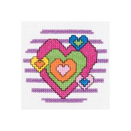 My 1st heart pink Mini Counted Cross Stitch Kit by Bucilla