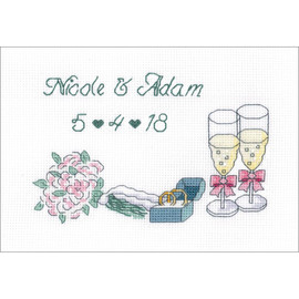 Wedding Day Announcement Counted Cross Stitch Kit by Janlynn