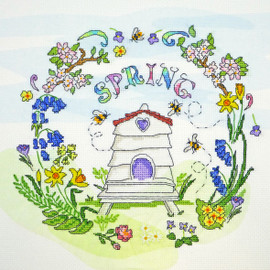 Spring Time Cross Stitch Kit by Bothy Threads