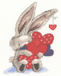 Whole Lot Of Love Cross Stitch Kit by Bothy Threads
