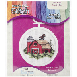 Country Barn Mini Counted Cross Stitch Kit By Janlynn