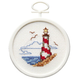 Lighthouse Mini Counted Cross Stitch Kit By Janlynn