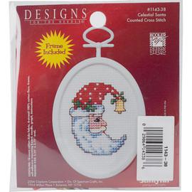 Celestial Santa Mini Counted Cross Stitch Kit By Janlynn