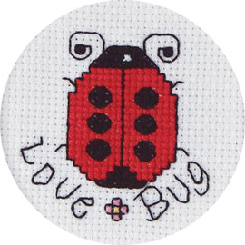 Love Bugs Mini Counted Cross Stitch Kit By Janlynn