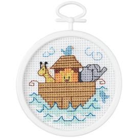 Noah's Ark Mini Counted Cross Stitch Kit By Janlynn
