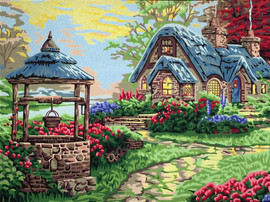 Wishing Well Cottage Tapestry Canvas by Gobelin