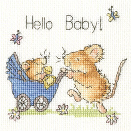 Hello Baby! Cross Stitch Kit by Bothy Threads