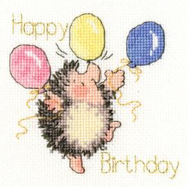 Birthday Balloons Cross Stitch Kit by Bothy Threads