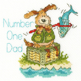 Number One Dad Cross Stitch Kit by Bothy Threads