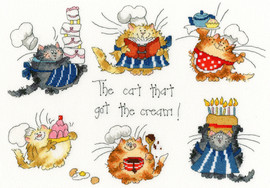 The Cat That Got The Cream Cross Stitch Kit by Bothy Threads