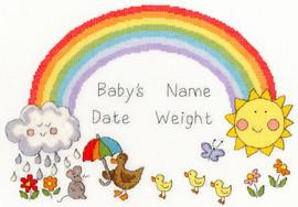 Rainbow Baby Cross Stitch Kit by Bothy Threads