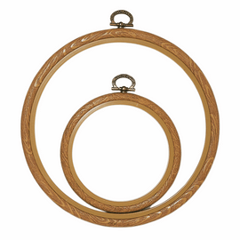 "Fix-It Flexi Frame: Plastic: 17cm (7"") Diameter: Brown"