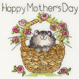Basket Of Roses Cross stitch Kit by Bothy Threads