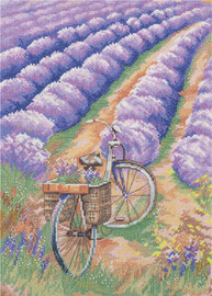 Lavender Field Counted Cross Stitch Kit By Panna