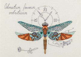 Steampunk Dragonfly Counted Cross Stitch Kit By Panna