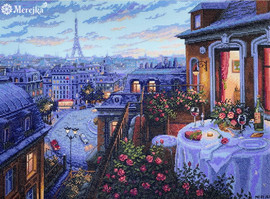 Paris Evening Deja Vu Counted Cross Stitch Kit By Merejka