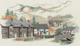 Village England- Cumbria Village Cross Stitch Kit by Derwentwater