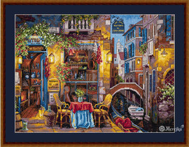 Special Place in Venice Counted Cross Stitch Kit by Merejka