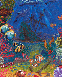 Underwater World Counted Cross Stitch Kit by Panna