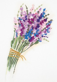 Lavender Bunch Ribbon Embroidery Kit by Panna