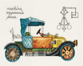 Clockwork Vehicle Counted Cross Stitch Kit by Panna