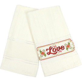 Charles Craft Aberdeen Velour Hand Towel 14 Count