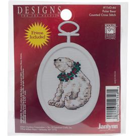 Polar Bear Mini Counted Cross Stitch Kit by Janlynn