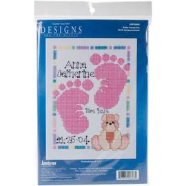 Baby Footprints Mini Counted Cross Stitch Kit by Janlynn