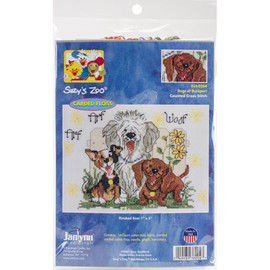 Dogs of Duckport Suzy's Zoo Counted Cross Stitch Kit by Janlynn