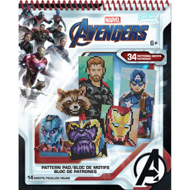 Perler Avengers Fused Bead Pattern Pad By Notions