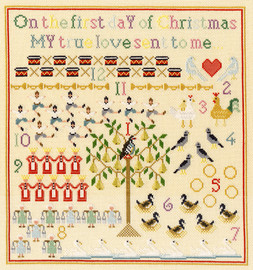 On The First Day Cross Stitch By Bothy Threads