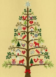 Scandi Christmas Tree Cross Stitch By Bothy Threads