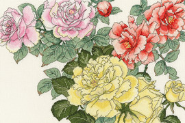 Rose Blooms Cross Stitch Kit By Bothy Threads