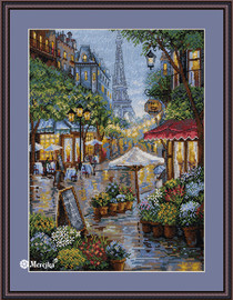 Rainy Paris Counted Cross Stitch Kit by Merejka