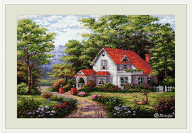 Sterling Estate Counted Cross Stitch Kit by Merejka