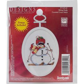 Skiing Dude Cross Stitch Kit by Janlynn