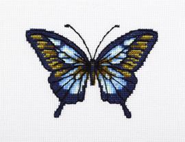 Blue Butterfly Counted Cross Stitch Kit bt VDV