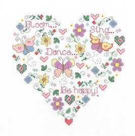Butterfly Happiness Cross Stitch Chart Only
