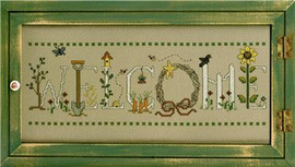Gardening Welcome Cross Stitch Chart Only