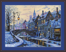 Winter Evening Counted Cross Stitch Kit by Merejka