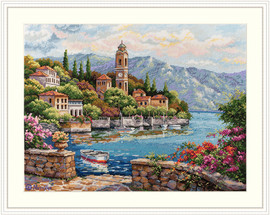 Lago di Como Counted Cross Stitch Kit by Merejka
