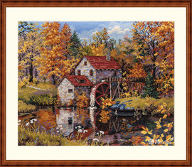 Watermill Counted Cross Stitch Kit by Merejka